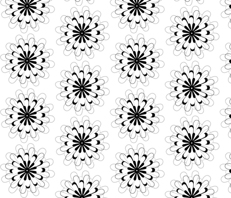 Dahlia Darling fabric by saraelizabeth on Spoonflower - custom fabric