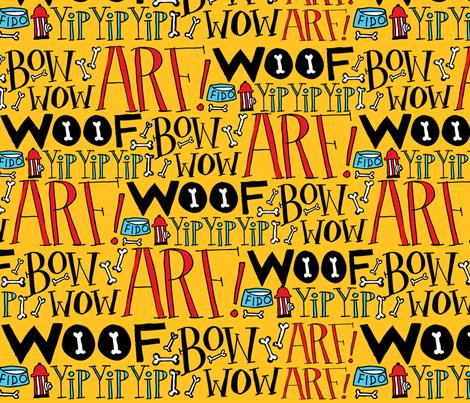 Doggie Language fabric by ecdesign on Spoonflower - custom fabric