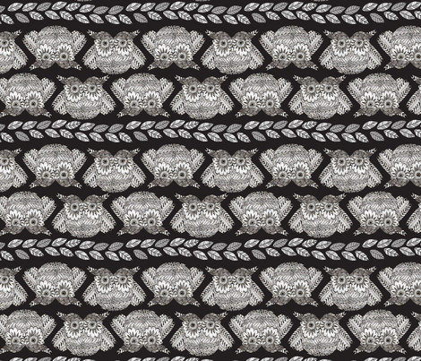 owls_in_black_without_default_S fabric by nadja_petremand on Spoonflower - custom fabric