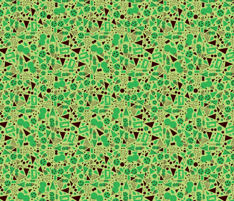 Mint Chocolate Chip fabric by acbeilke on Spoonflower - custom fabric