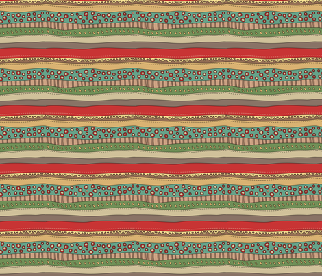Xmas stripes fabric by catru on Spoonflower - custom fabric