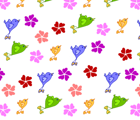 Love Birds fabric by kdl on Spoonflower - custom fabric