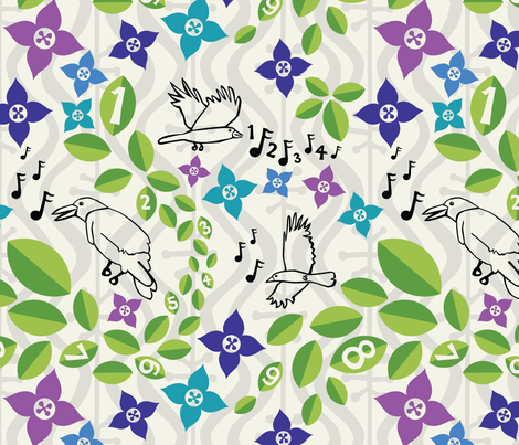 excuse my wandering fabric by circlesandsticks on Spoonflower - custom fabric