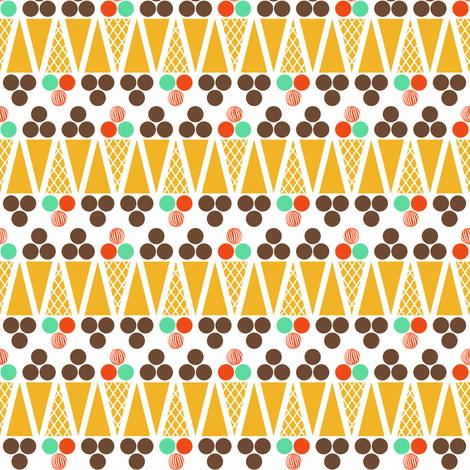 Ice Cream Retro fabric by newmom on Spoonflower - custom fabric