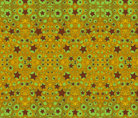 JamJax Green Starfire fabric by jamjax on Spoonflower - custom fabric