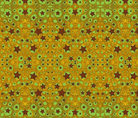 JamJax Green Starfire fabric by jamjax on Spoonflower - custom fabric