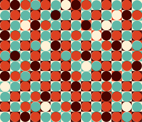 Retro Dots and Squares fabric by seidabacon on Spoonflower - custom fabric