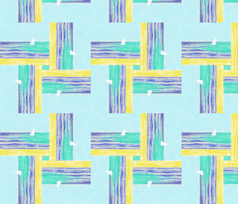 Beach scene with boat fabric by su_g on Spoonflower - custom fabric
