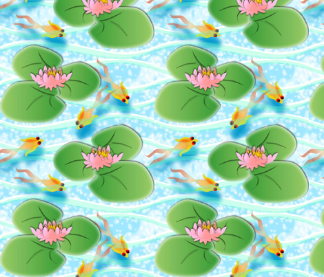 © 2011 Lilypad - large fabric by glimmericks on Spoonflower - custom fabric