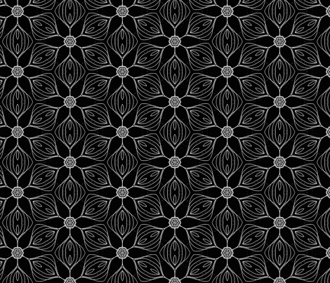 black white small tiling fabric by heikou on Spoonflower - custom fabric