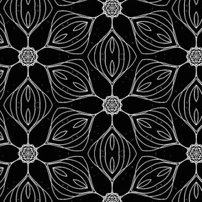 black white small tiling