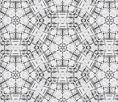 black and white tiles fabric by heikou on Spoonflower - custom fabric
