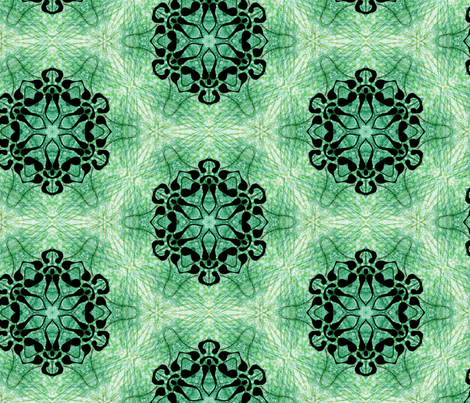 green star fabric by heikou on Spoonflower - custom fabric