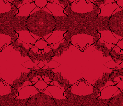 red ornamentic fabric by heikou on Spoonflower - custom fabric