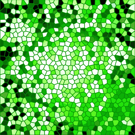 green mosaic fabric by heikou on Spoonflower - custom fabric