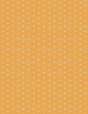 Polka Dots in Mustard