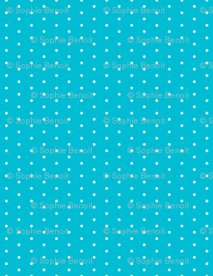 Polka Dots in Blue Curaçao