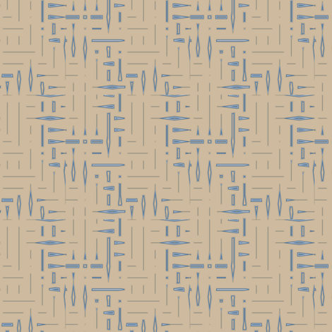 Beige and Blue Twigs © 2009 Gingezel™ Inc. fabric by gingezel on Spoonflower - custom fabric
