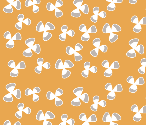 Clover in Mustard fabric by sophiebenoit on Spoonflower - custom fabric