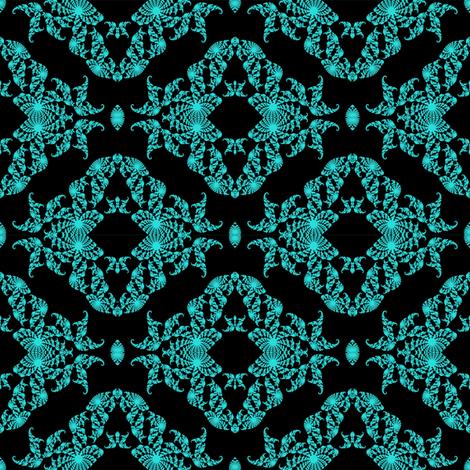 Fractal Fantasy in blue fabric by grannynan on Spoonflower - custom fabric