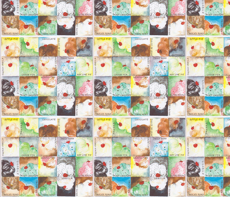 Chocolate_and_Vanillia fabric by marlasnyder on Spoonflower - custom fabric