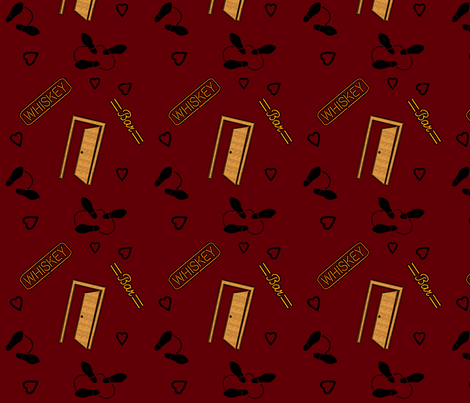 Rod McKuen- In Someone's Shadow- May 17  fabric by don't_quilt_your_day_job on Spoonflower - custom fabric