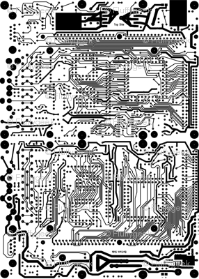 Mirror Circuit - Black and White