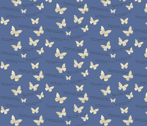 The Example; William H. Davies fabric by mitzimakes on Spoonflower - custom fabric