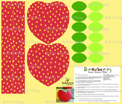 Strawberry-Sweet Dreams Pillow Kit