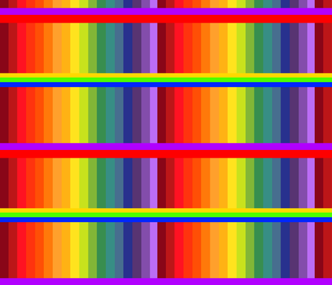 Rainbow_Brite_stripes2 fabric by charldia on Spoonflower - custom fabric