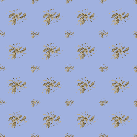 Farmhouse Blue Roses Sarah  fabric by joanmclemore on Spoonflower - custom fabric