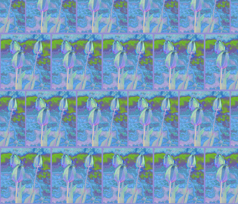 Tulips in Pastels © 2009 Gingezel Inc. fabric by gingezel on Spoonflower - custom fabric