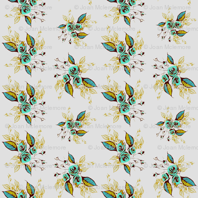 Roses Antique Teal