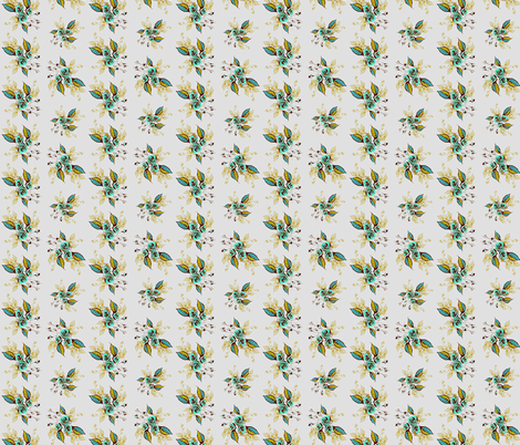 Roses Antique Teal fabric by joanmclemore on Spoonflower - custom fabric