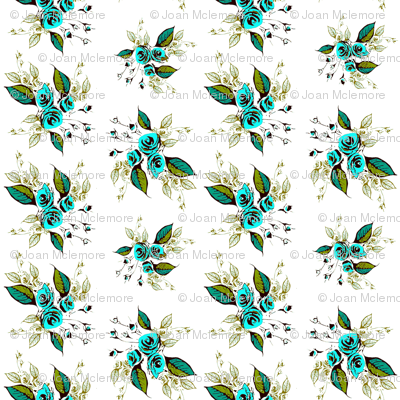 Roses Antique teal sprays