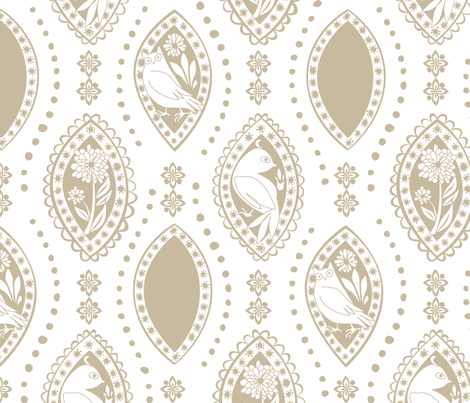 Spanish_Eyes_WHITEKHAKI fabric by fuzzyskyfabric on Spoonflower - custom fabric