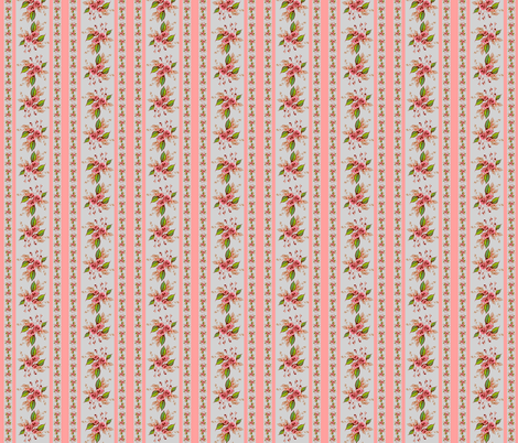 Roses Antique Pink  fabric by joanmclemore on Spoonflower - custom fabric