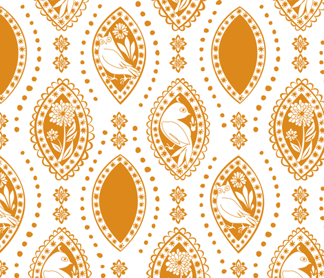 Spanish_Eyes_WHITEYELLOW fabric by fuzzyskyfabric on Spoonflower - custom fabric