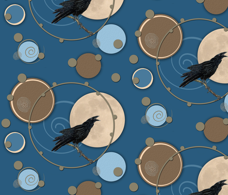 Quoth The Raven fabric by poetryqn on Spoonflower - custom fabric
