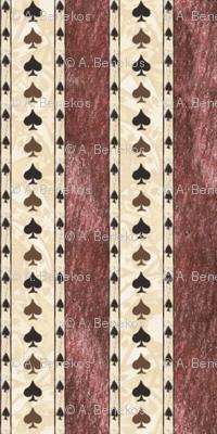 Chocolate Spade Stripes 2