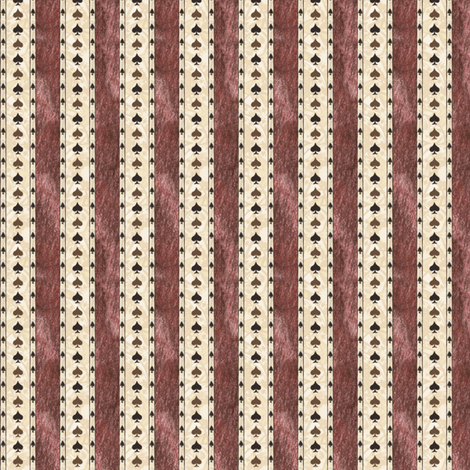Chocolate Spade Stripes 2 fabric by siya on Spoonflower - custom fabric