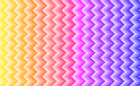 knobbly zigzag - rainbow