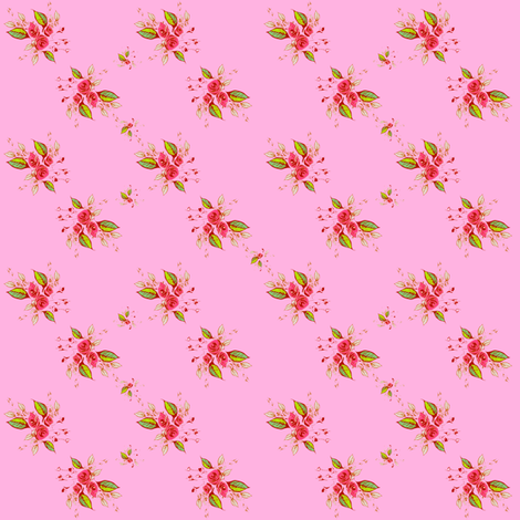 Roses Dainty Pink fabric by joanmclemore on Spoonflower - custom fabric