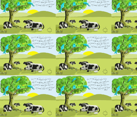 Trees are the Kindest Thing I know fabric by salzanos on Spoonflower - custom fabric