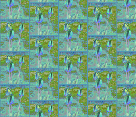 Tulips in Aqua © 2009 Gingezel™ Inc. fabric by gingezel on Spoonflower - custom fabric