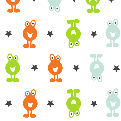 Monsters On Parade fabric by jenniferfranklin on Spoonflower - custom fabric