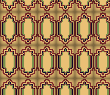 EleBoo Tan Tile fabric by elephant_booty_studio on Spoonflower - custom fabric