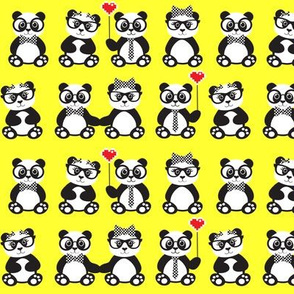 Panda Geek Chic Yellow