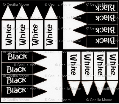 Black and White Crayons