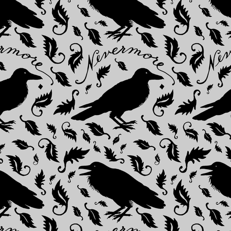 nevermore fabric by katherinecodega on Spoonflower - custom fabric